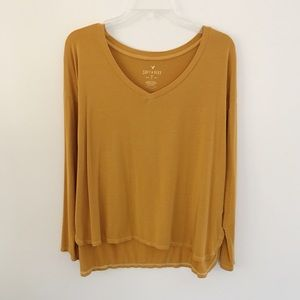 AEO | Soft & Sexy Long Sleeve Mustard Yellow